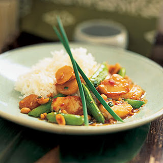Kung Pao Scallops with Snap Peas