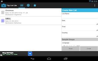 Screenshot of Trip List Lite