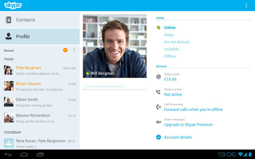 Screenshot #3 of Skype - free IM & video calls / Android
