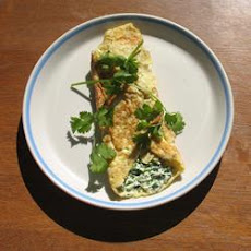 Herby Cream Cheese Omelette