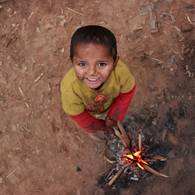 My little fire by Sheraz Mushtaq - Babies & Children Child Portraits