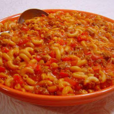 Cheesy Beef and Macaroni Goulash