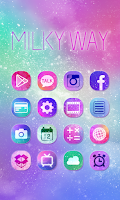 Screenshot of Milky Way GO Launcher Theme