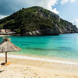 Corfu beach by Martin Pitchford - Landscapes Beaches