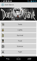Screenshot of Don't Starve Crafting Guide