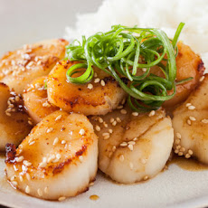 Scallop with Mustard Miso Sauce Recipe