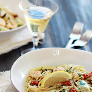 Shrimp Scampi with Sun-Dried Tomatoes and Artichokes