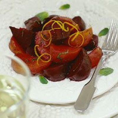 Roasted Baby Beets with Balsamic, Orange and Mint