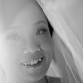 Under the Veil by Jason Lee - Wedding Bride ( wedding photography, portrait photography, momentoz, weddings in malaysia, jason lee photography, canon 1dmk3, malaysian wedding photographer, malaysian portrait photographer, 50mm lens, portrait, woman, b&w, person )