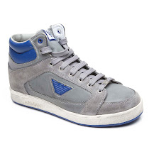 Armani Grey Distressed High Top TRAINER