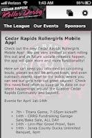 Screenshot of Cedar Rapids Roller Girls CRRG