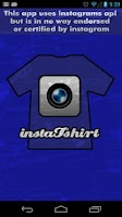 Screenshot of InstaTshirt Social T-Shirts