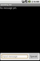 Screenshot of Speaking Aid