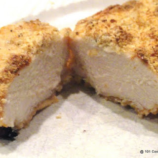 Oven Roasted Parmesan Crusted Skinless Chicken Breast