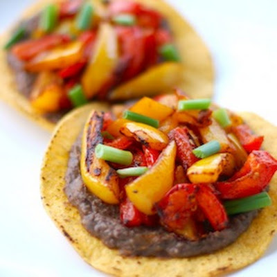 Roasted Bell Pepper Tostadas