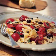Bow Tie Pasta with Cherry Tomatoes, Capers, and Basil