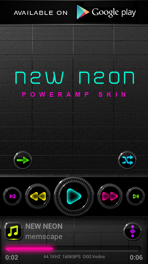 NEW NEON Next Launcher Theme Screenshot 7