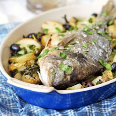 Whole Roast Bream With Potatoes & Olives