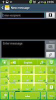 Screenshot of GO Keyboard Green Nature
