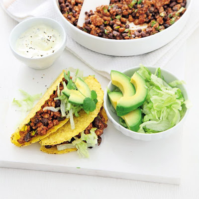Smoky Pork & Black Bean Tacos