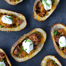 Chorizo and Cheddar Potato Skins