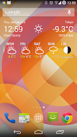 Screenshot of Weather Widget Forecast App