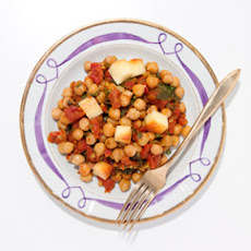 Baked Chickpeas with Paneer