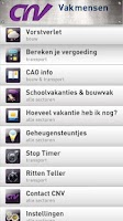 Screenshot of CNV Vakmensen App