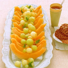 Melon with Orange-Ginger Syrup