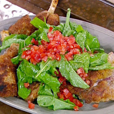 Aldie's Veal Chop with Arugula and Tomatoes