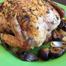 Roasted Chicken With Fresh Figs and Onions