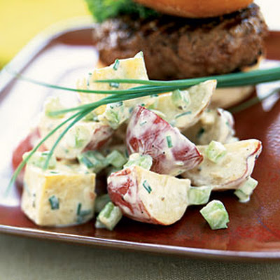 Two-Potato Salad with Mustard-Chive Dressing