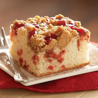 Strawberry Coffee Cake with Peanut Butter Streusel