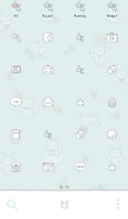 Screenshot of flower dance dodol theme