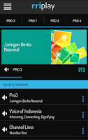 Screenshot of RRI Play
