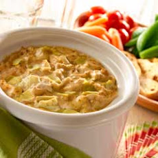 Slow Cooker Hot Golden Artichoke Dip