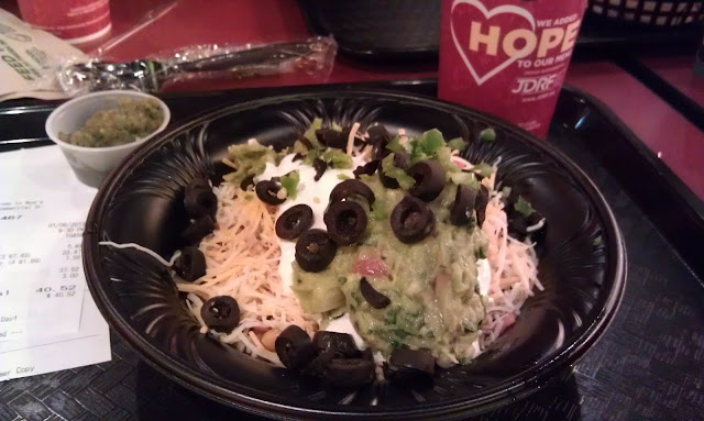 'Burrito' Bowl of GF choices!  Welcome to Moe's
