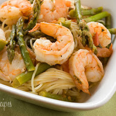 Angel Hair with Shrimp and Asparagus