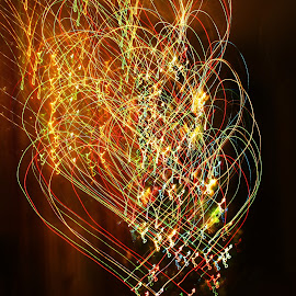 by Gabriela Olaru - Abstract Light Painting ( light painting exposure christmas lights colors colorful )