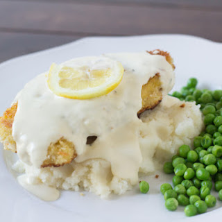 Panko Crusted Chicken With Lemon Sauce