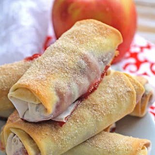 Cranberry-apple Pie Spring Rolls