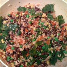 Vegetable, Black Bean And Brown Rice Salad