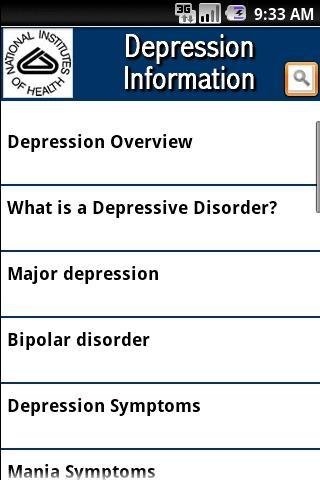 NIH Depression Information