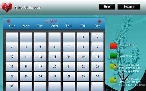 Nino Calendar for tablet
