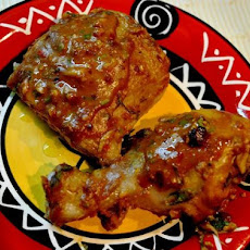 African Style Grilled Peanut Butter Chicken