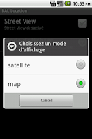 Screenshot of France Mailbox Location