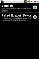 Screenshot of Car Locator Bluetooth Plugin