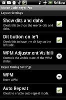 Screenshot of Morse Code Keyer Pro