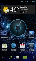 Screenshot of Nexus 4 Clock ICS Clock Widget