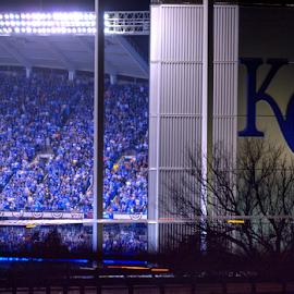 The K by D Clark  / B  Worthington - Sports & Fitness Baseball ( kansas city, baseball, world series, stadium, crowd )